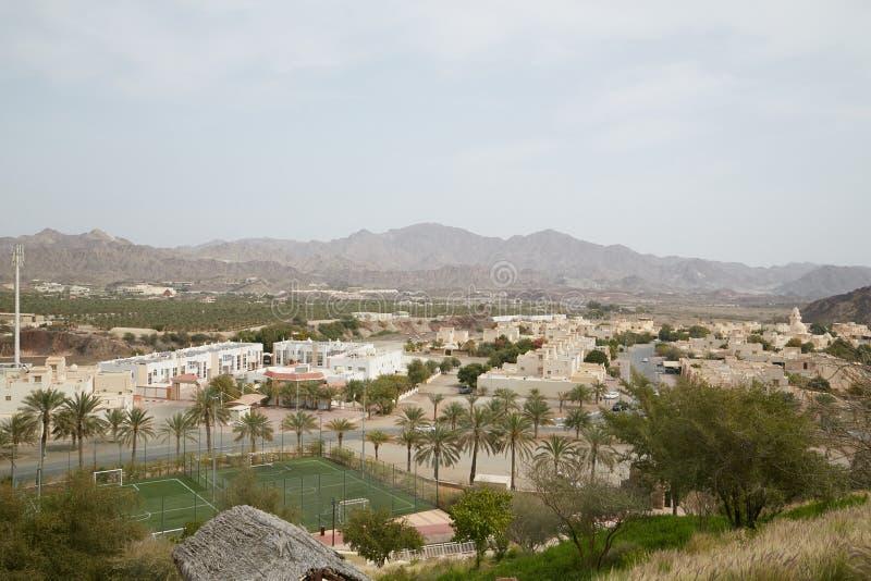 Överflödande liten stad av Hatta, Dubai arkivfoto