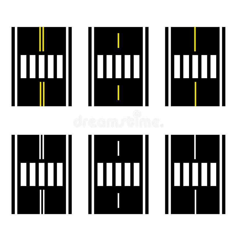 Övergångsställe på det enkla symbolet för väg royaltyfri illustrationer