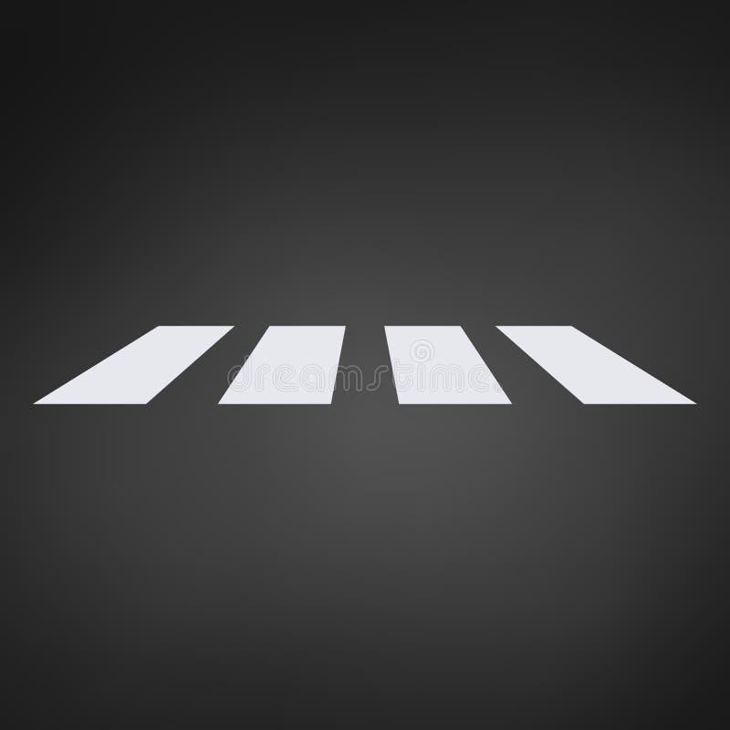 Övergångsställebana, övergångsställe illustration för vektor för perspektivsikt, övergång som isoleras på vit bakgrund stock illustrationer