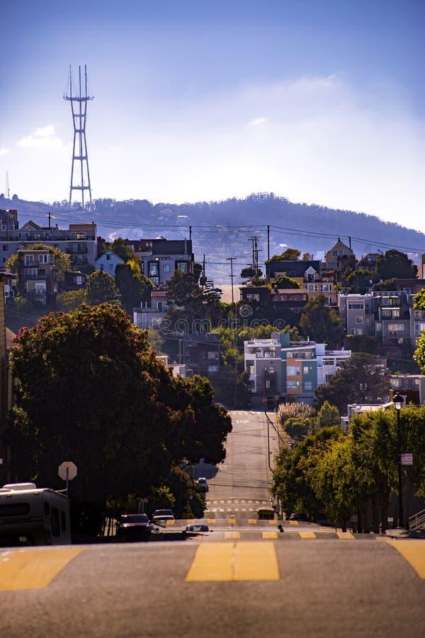 Övergångsställetorn San Fran fotografering för bildbyråer