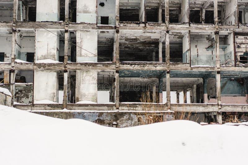 Övergav byggnader i Kamchatka arkivbilder