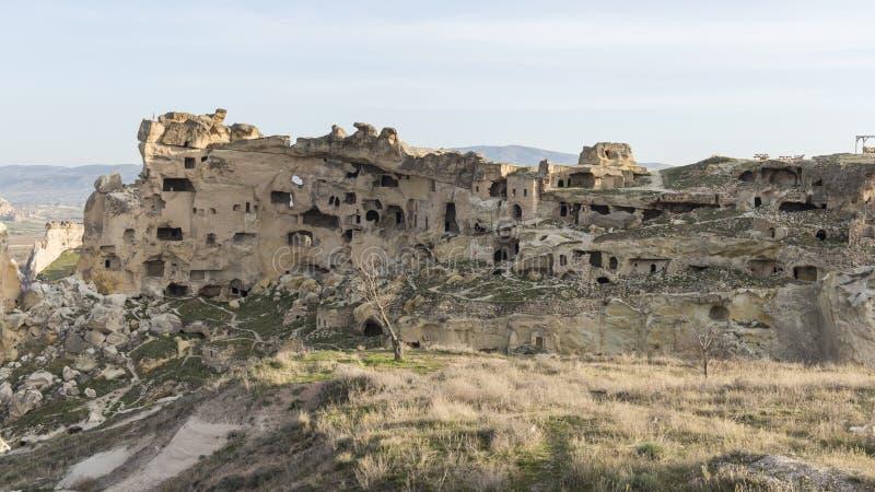 Övergav grottor i Cappadocia royaltyfria foton