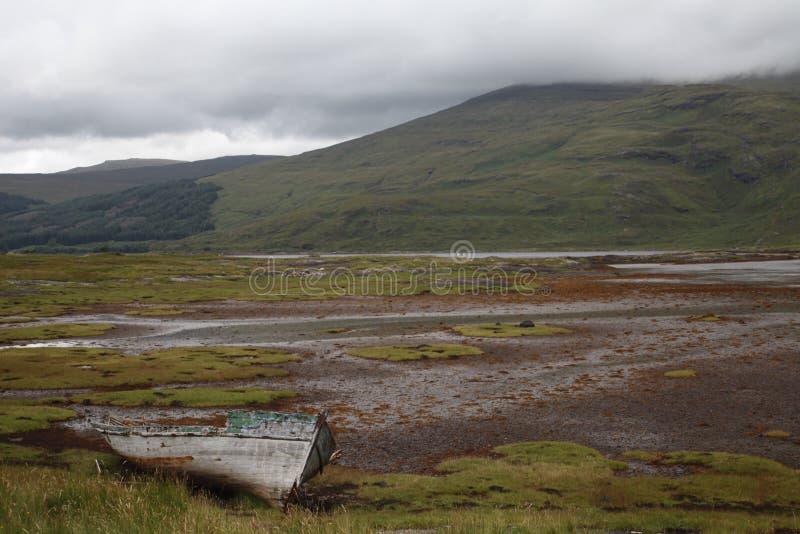Övergett fartyg på Mull royaltyfria bilder
