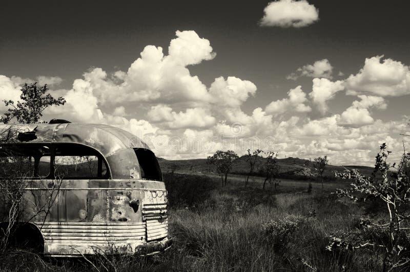 Övergiven buss - Australien arkivbild