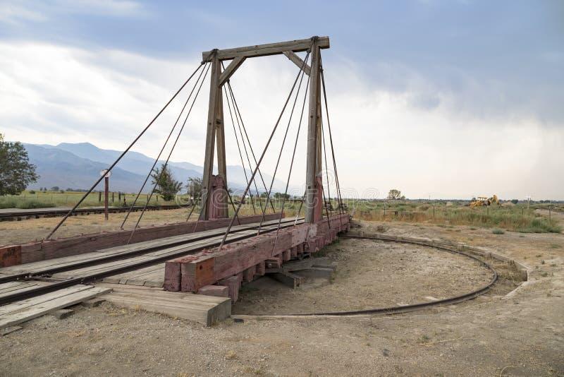 Övergiven järnväg i Kalifornien royaltyfria foton