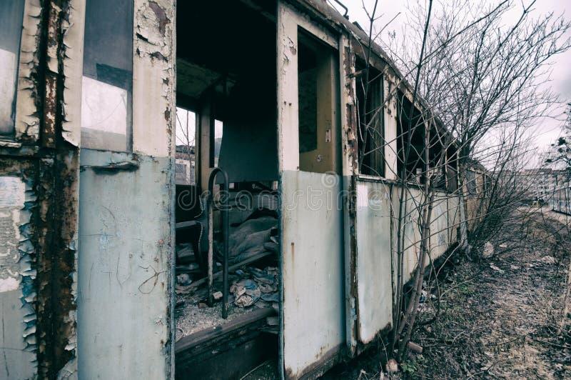 övergiven järnväg vagn royaltyfri fotografi