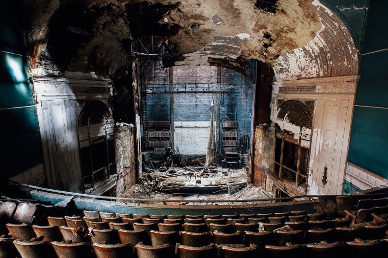 Övergiven Paramount teater - Youngstown, Ohio royaltyfri foto