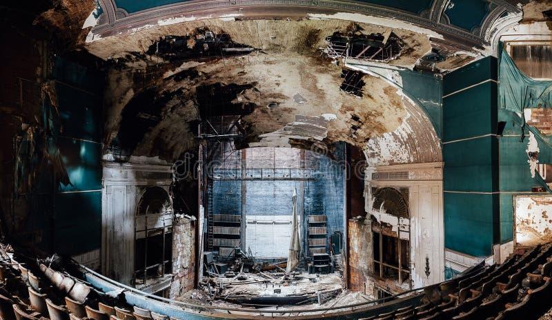 Övergiven Paramount teater - Youngstown, Ohio arkivbild