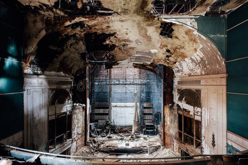 Övergiven Paramount teater - Youngstown, Ohio royaltyfria foton