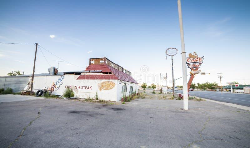 Övergiven restaurang i Utah arkivfoto