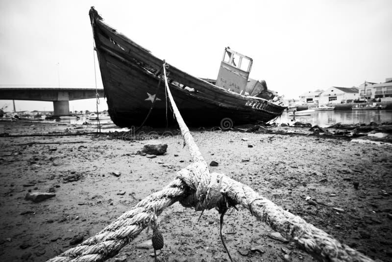 övergiven ship arkivfoto
