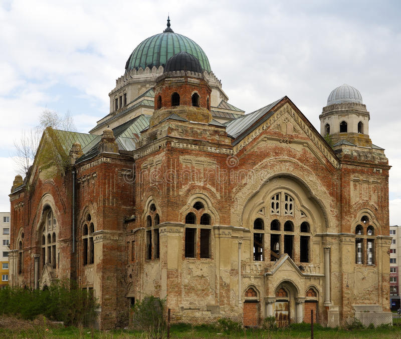 övergiven synagoga arkivfoton