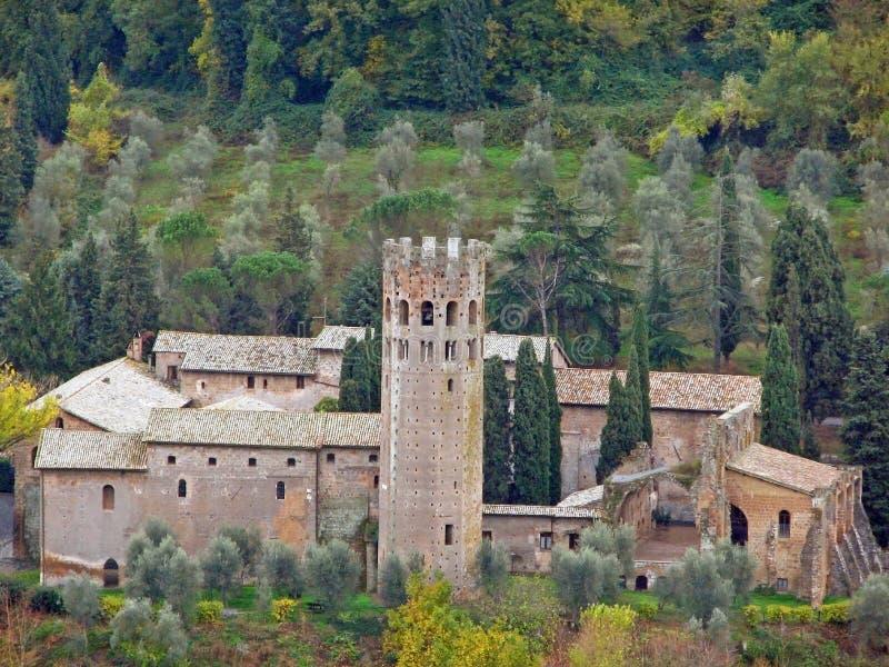 övergiven umbria villa royaltyfri fotografi