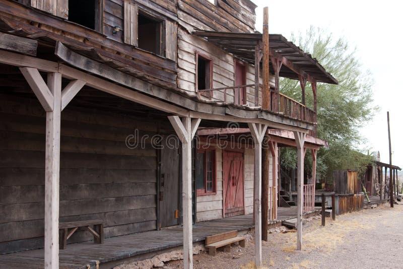 övergiven västra arizona gammal town USA royaltyfri bild