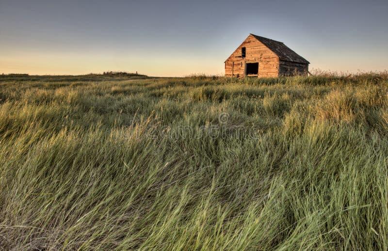 Övergivet lantbrukarhem Saskatchewan Kanada arkivbild