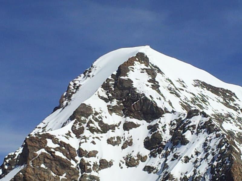 överkant av berget i Schweiz royaltyfria bilder
