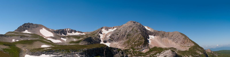 Överkant av berget Oshten arkivfoton