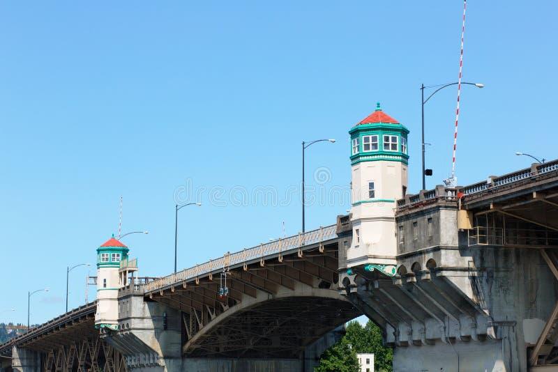 Överkant av den Burnside bron fotografering för bildbyråer