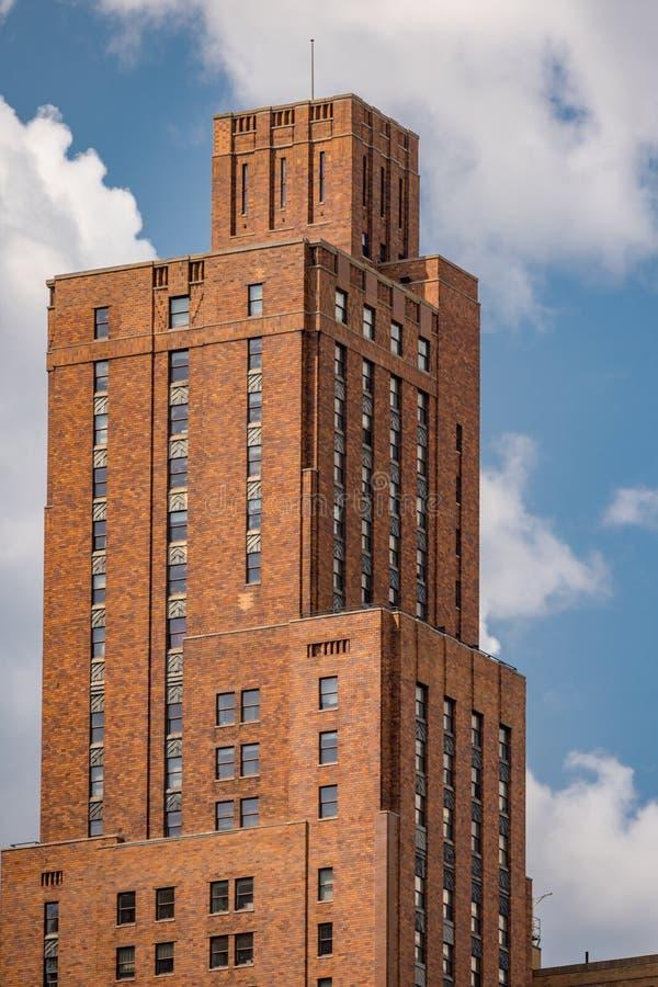 Överkant av 21 den västra gataManhattan NYC byggnaden royaltyfria bilder