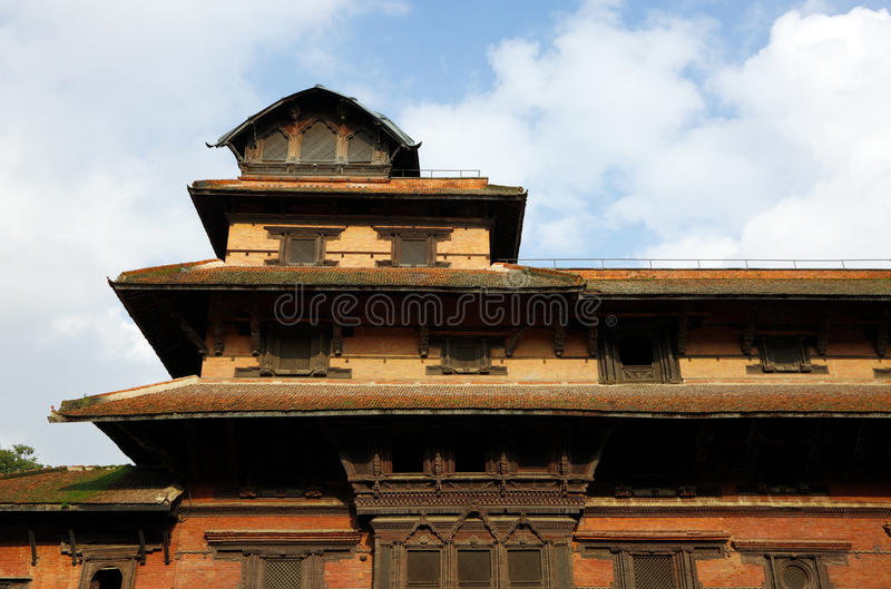 Överkant av det Basantapur för nio våning tornet i den nasala Chowk borggården royaltyfri bild