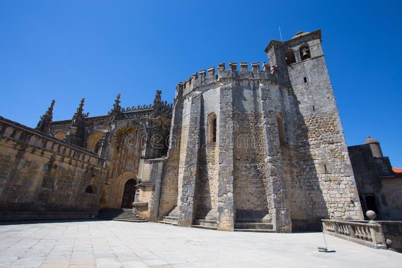 Överkant av mästerverket för Dom Joao III klosterrenässans i den Templar kloster av Kristus i Tomar, arv för Portugal UNESCOvärld royaltyfri bild