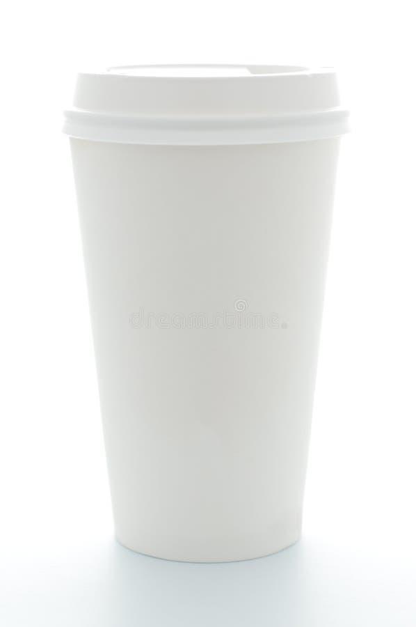 överkant för plast- för papper för kaffekopp arkivfoto