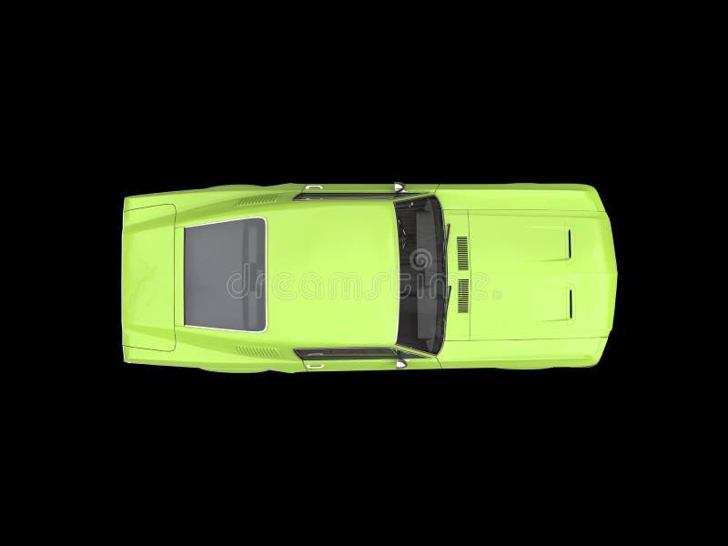 Överkanten för den gröna muskeln för tappning för gift beskådar den bil- amerikanska ner arkivfoto