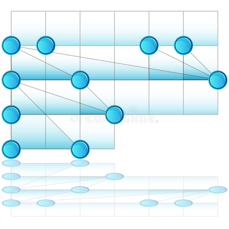 Överlappande processdiagram vektor illustrationer