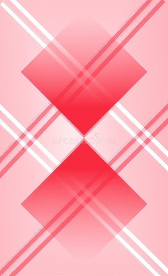 Överlappningsmåttet för den geometriska designen av argyle med rött & behandla som ett barn den rosa graderingen, idérik design m royaltyfri illustrationer