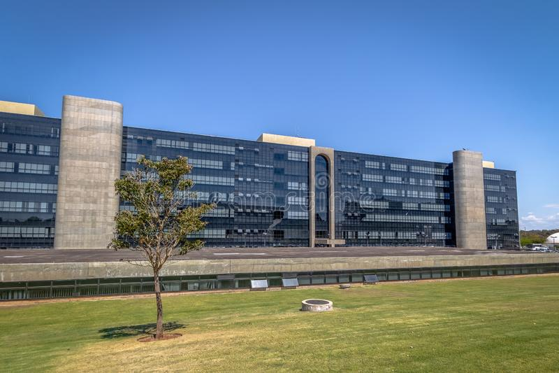 ÖvermanLabour domstol - domstolöverman gör Trabalho - prov - Brasilia, federala Distrito, Brasilien arkivbilder