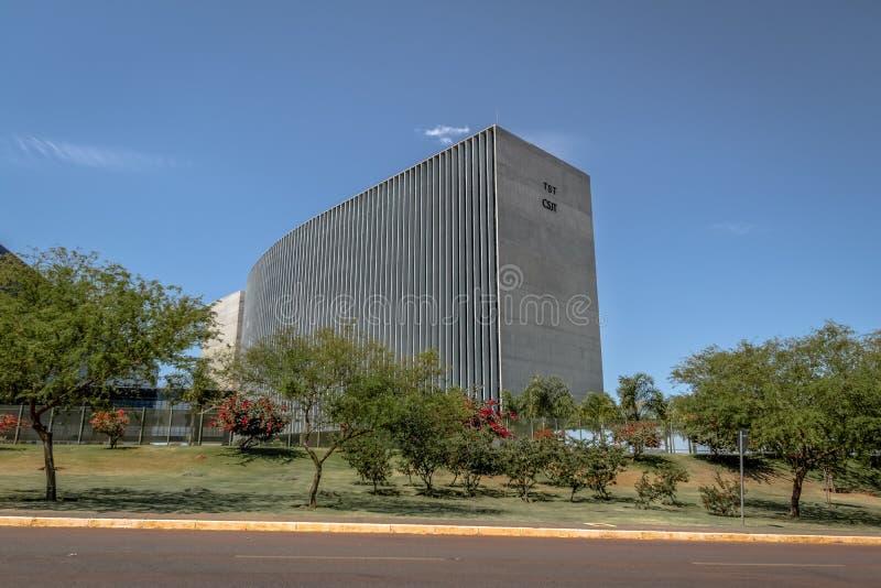 ÖvermanLabour domstol - domstolöverman gör Trabalho - prov - Brasilia, federala Distrito, Brasilien royaltyfri fotografi
