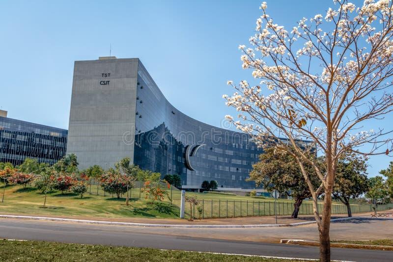 ÖvermanLabour domstol - domstolöverman gör Trabalho - prov - Brasilia, federala Distrito, Brasilien arkivfoto