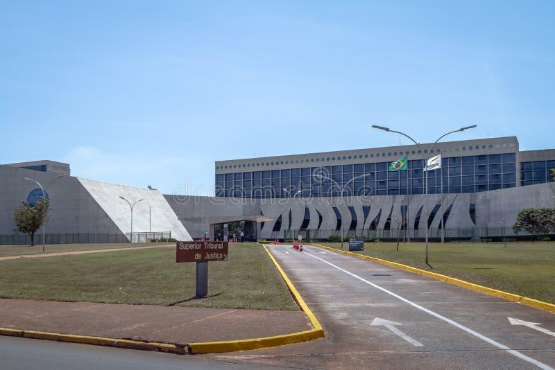 Överrätt av rättvisa - Överman Domstol de Justica - STJ - Brasilia, federala Distrito, Brasilien arkivfoton