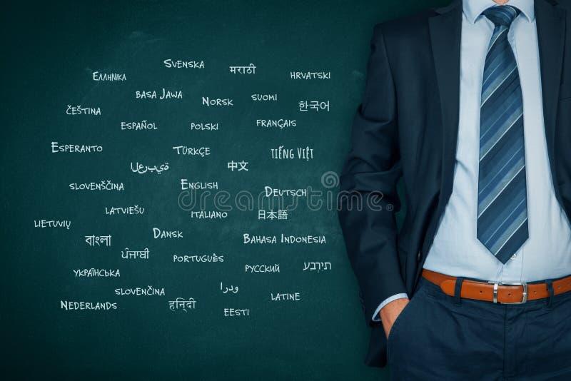 Översättareprofessionell och språkbegrepp royaltyfri fotografi