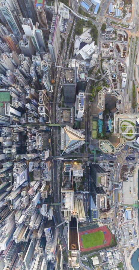Översikt över Wan Chai District royaltyfri bild
