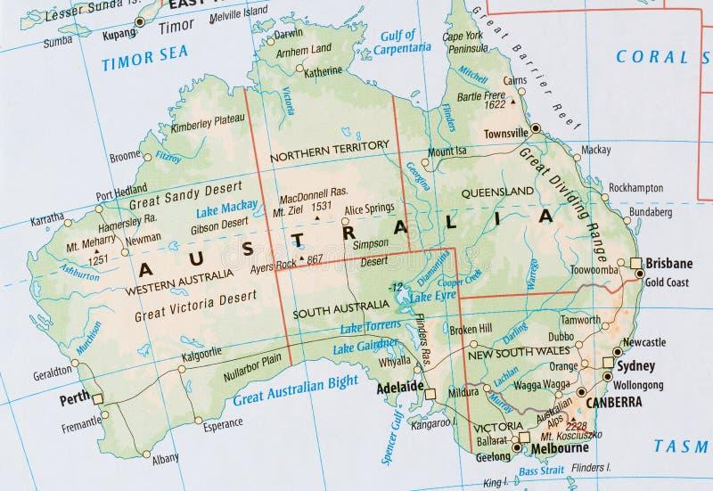 Översikt av Australien arkivbilder