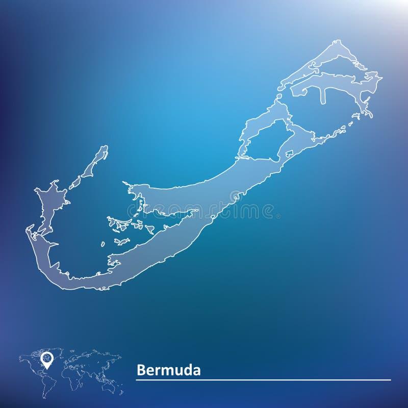 Översikt av Bermuda vektor illustrationer