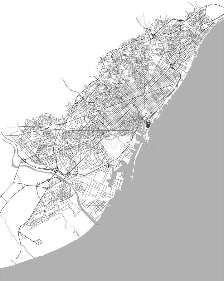 Översikt av centret av Barcelona, Spanien arkivfoto