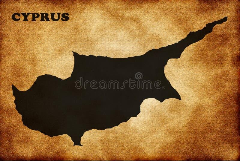 Översikt av Cypern royaltyfri illustrationer