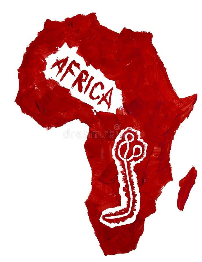 Översikt av den Afrika och Ebola viruset arkivfoto