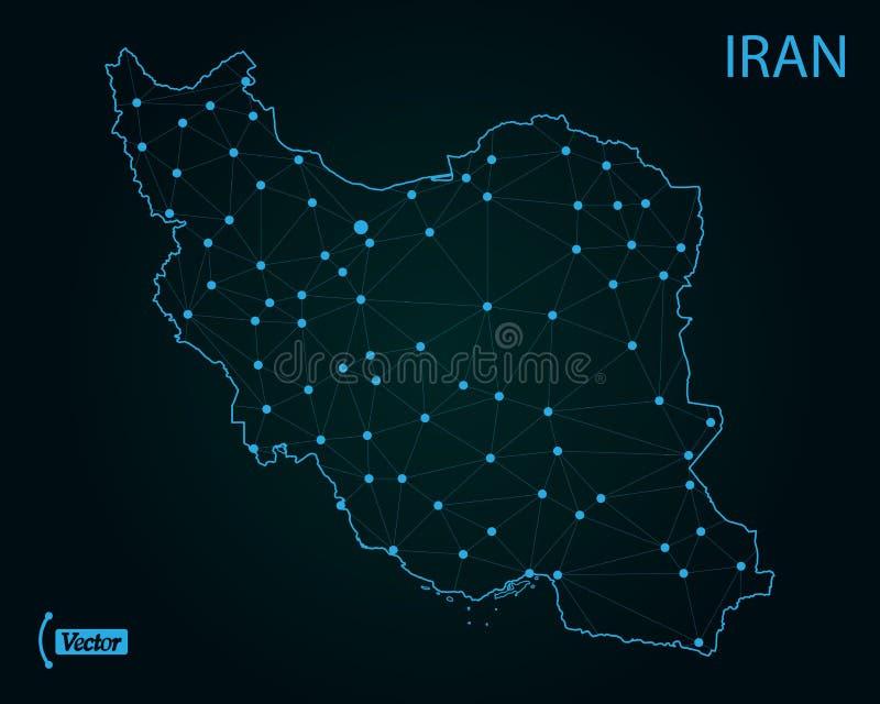 Översikt av den islamiska republiken av Iran också vektor för coreldrawillustration gammal värld för illustrationöversikt stock illustrationer