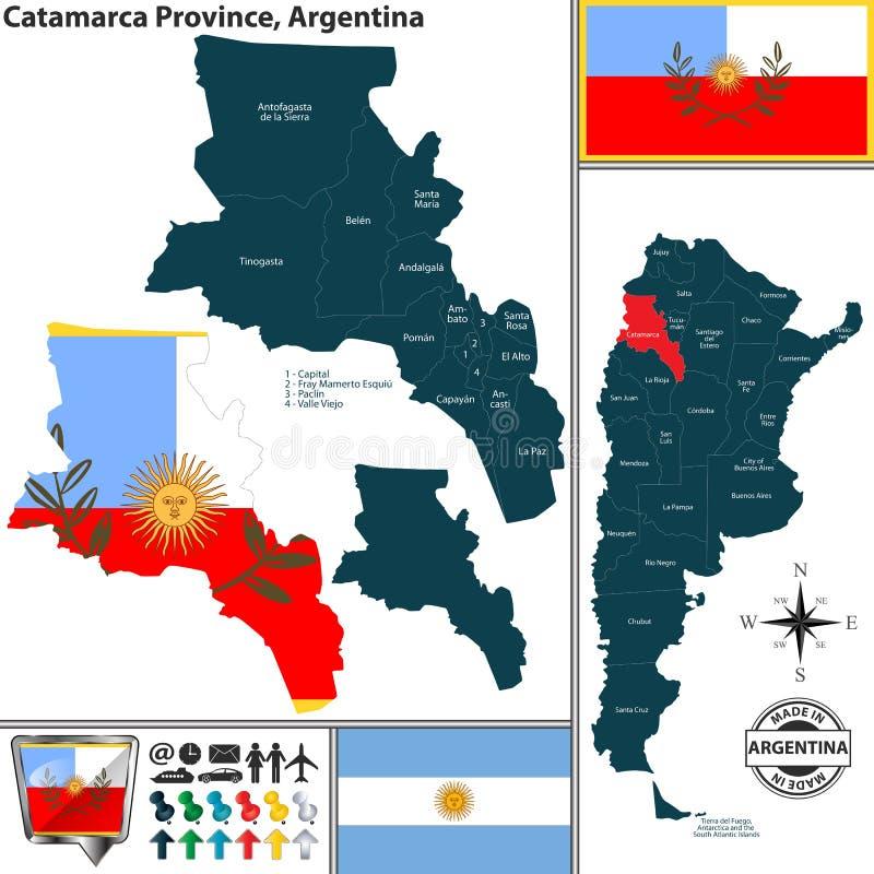 Översikt av det Catamarca landskapet, Argentina stock illustrationer