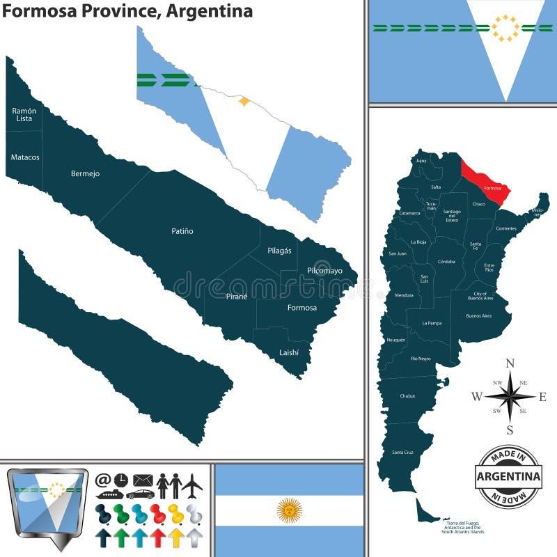 Översikt av det Formosa landskapet, Argentina vektor illustrationer