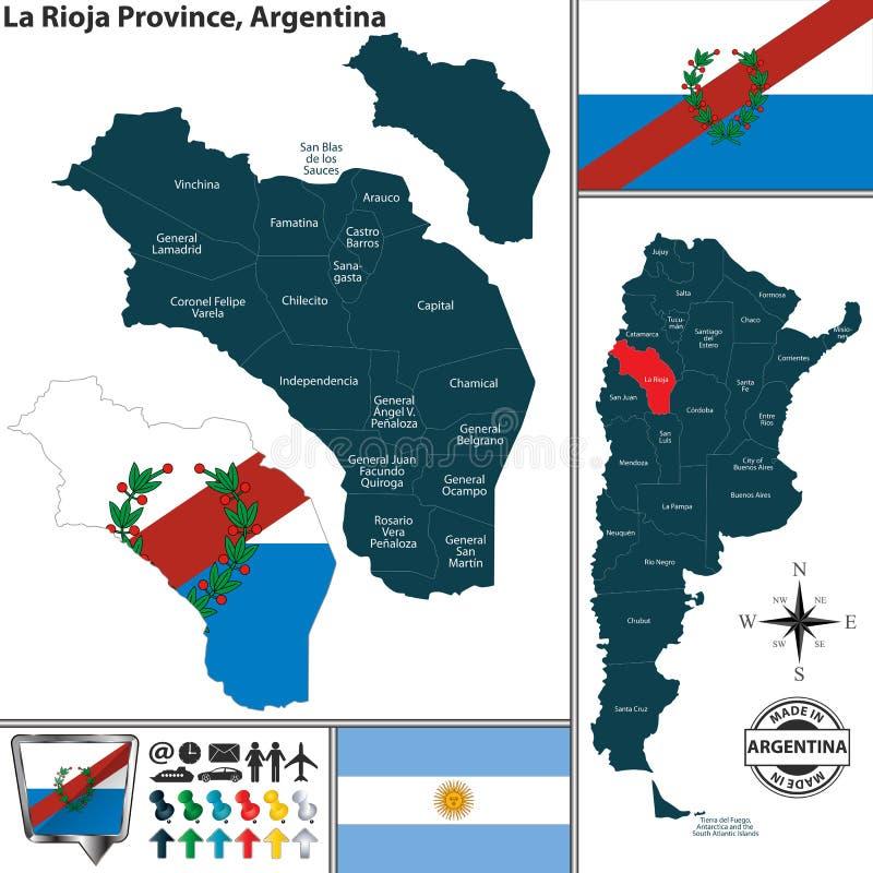 Översikt av det La Rioja landskapet, Argentina royaltyfri illustrationer