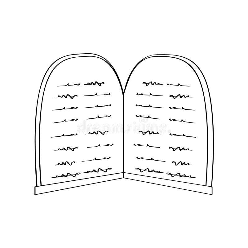 Översikt av en tabellsten av lagen stock illustrationer