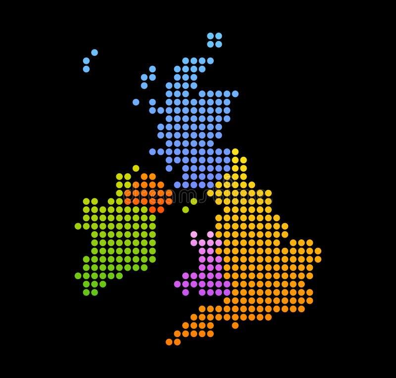 Översikt av Förenade kungariket och Irland vektor illustrationer