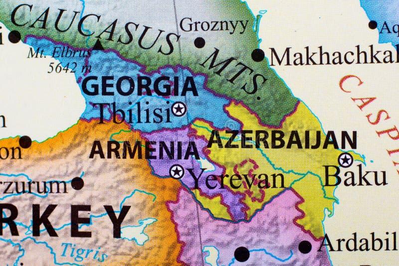 Översikt av Georgia, Armenien och Azerbajdzjan royaltyfri illustrationer