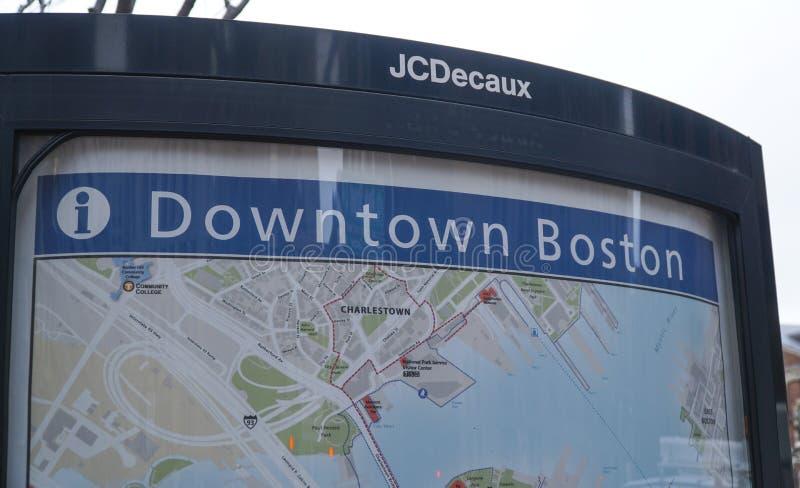 Översikt av i stadens centrum Boston - BOSTON, MASSACHUSETTS - APRIL 3, 2017 arkivfoton