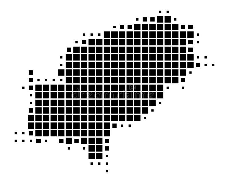 Översikt av Ibiza vektor illustrationer