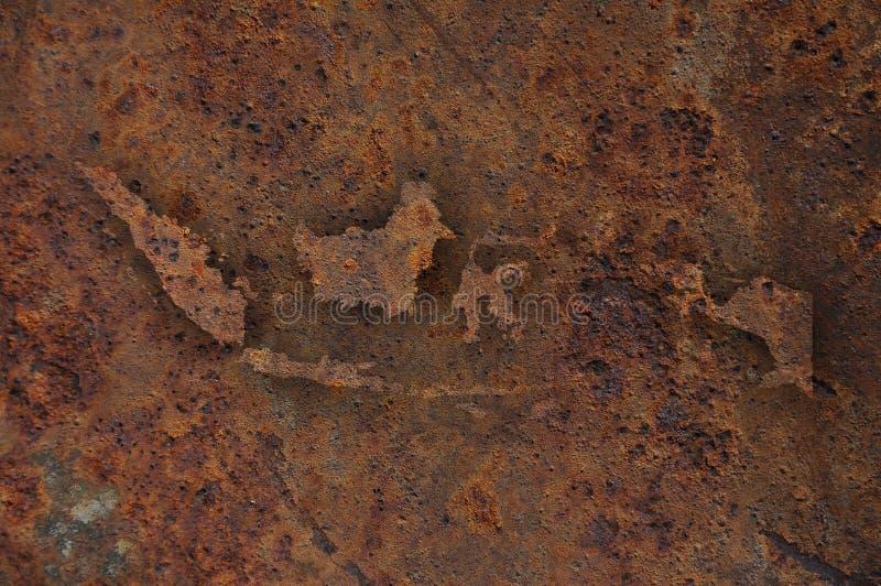 Översikt av Indonesien på rostig metall arkivfoton